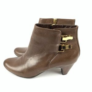 ☮️ Sam Edelman ankle booties Marmont brown leather